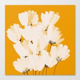 Flowers In Tangerine Canvas Print