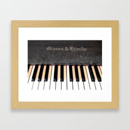 Antique Mason & Hamlin Piano Framed Art Print