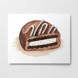Chocolate Covered Cookie Metal Print