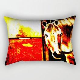 Abstract Horse Rectangular Pillow