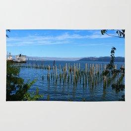 Columbia River Scene Rug