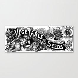 General List of Vegetable Seeds (1894) Canvas Print