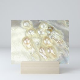 Shimmery Pearly Abalone Shell Mini Art Print