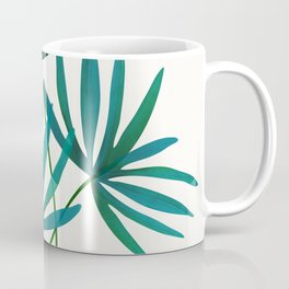 Fan Palm Fronds / Tropical Plant Illustration Coffee Mug