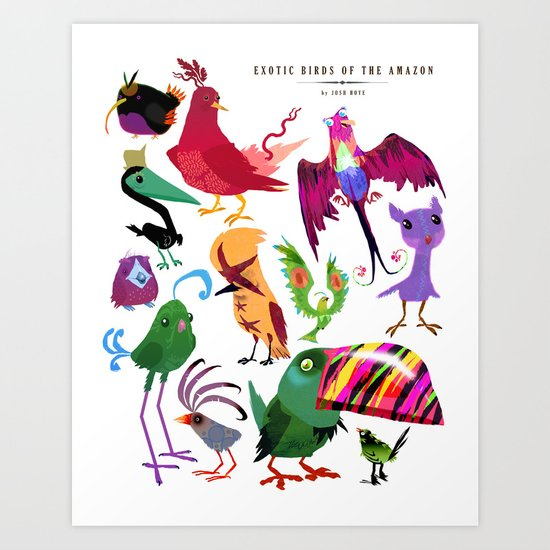 Exotic Birds of the Amazon series 1 collection Art Print