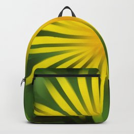 Abstracted yellow daisy Backpack