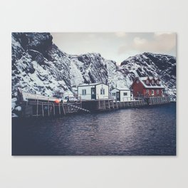 fishing stage Canvas Print