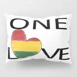 One Love Rasta Rastafari Reggae Heart Pillow Sham