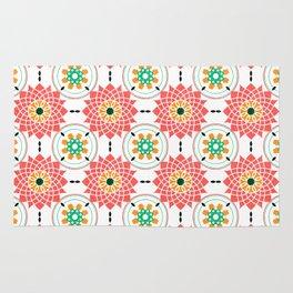 morrocan pink mandala pattern no4 Rug