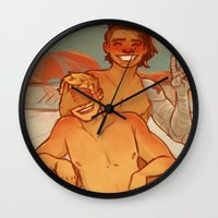 cargline Wall Clocks featuring Summer by cargline