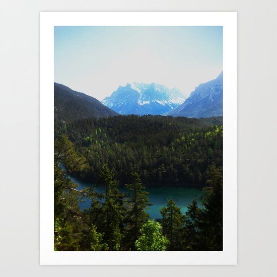 River en Route to Hopfgarten, Austria Art Print