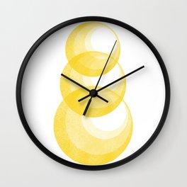Miminalist Golden Circles Abstract Wall Clock