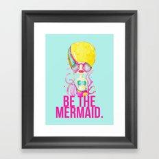 golden.  a happy mermaid Framed Art Print