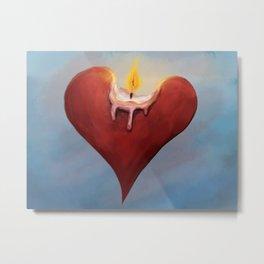 Burning Passion Metal Print