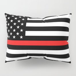 Firefighter: Black Flag & Red Line Pillow Sham
