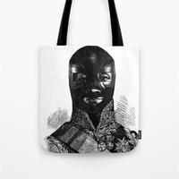 wrestling Tote Bags featuring Wrestling mask 1 by DIVIDUS DESIGN STUDIO