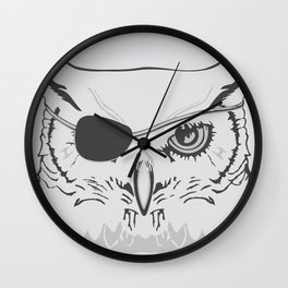 Owl Pirate Wall Clock