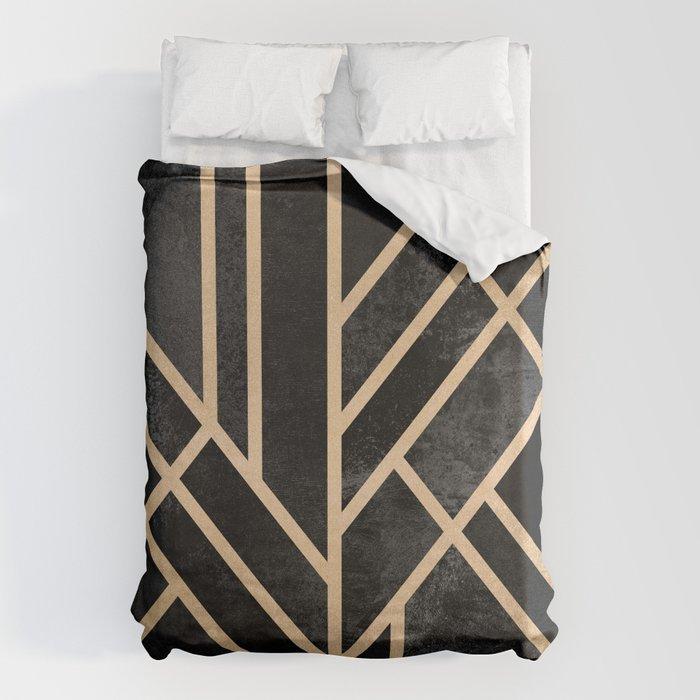 Art Deco Black Bettbezug