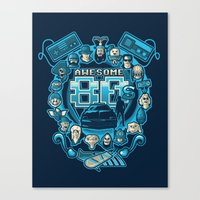 80s Canvas Prints featuring AWESOME 80s by Letter_q
