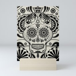 Sugar Skull Art B&W Mini Art Print
