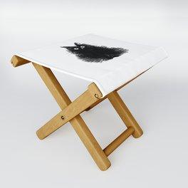 Duster - Black Cat Drawing Folding Stool