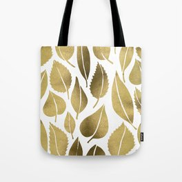 Cascading Leaves – Gold Palette Tote Bag