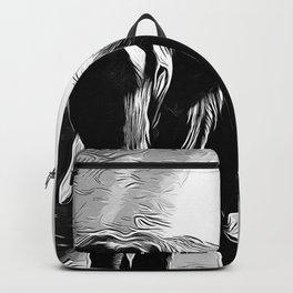 elephant jungle sunray va bw Backpack