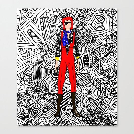 Bowie Fashion 4 Canvas Print