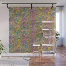 Parrots Escher Style Wall Mural