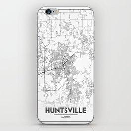 Minimal City Maps - Map Of Huntsville, Alabama, United States iPhone Skin