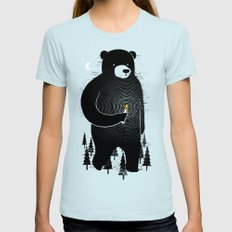 Lost in the wood LARGE Light Blue Womens Fitted Tee