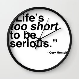 Life's Too Short - Cory Monteith Wall Clock