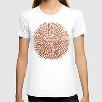 rose gold T-shirts featuring Rose Gold Burst by Cat Coquillette