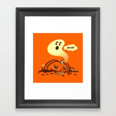 uh-oh! Framed Art Print