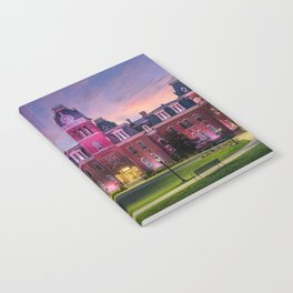 WVU Woodburn Hall at Sunset Notebook