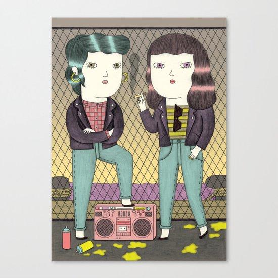 Girl Gang Canvas Print