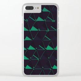 3D Futuristic GEO BG II Clear iPhone Case