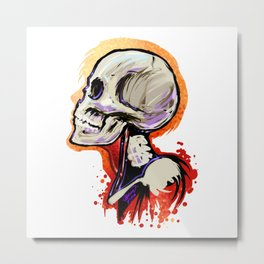 Bone Head Metal Print