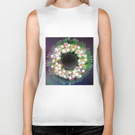 Christmas wreath Biker Tank