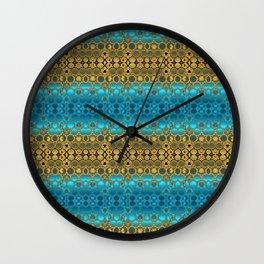 Retro India Lounge Pattern (turquoise) Wall Clock