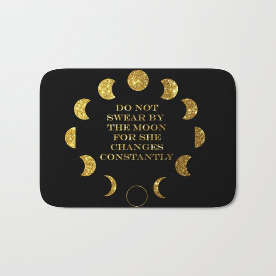 Moon Phases Gold Bath Mat