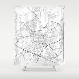 Minimal City Maps - Map Of Ghent, Belgium. Shower Curtain