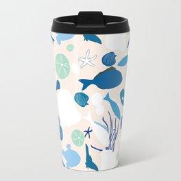 underwater life - blue Travel Mug