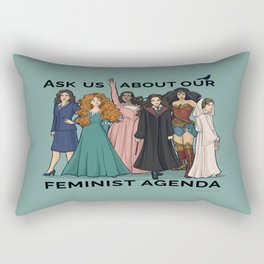 Feminist Agenda Rectangular Pillow