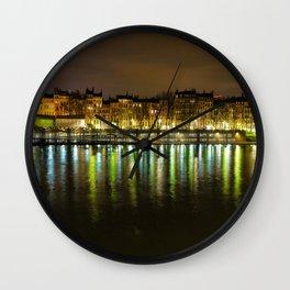 Lights of Lyon Wall Clock