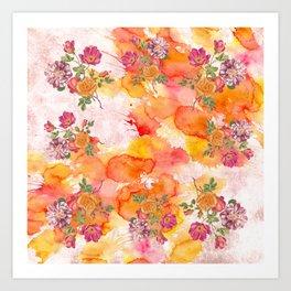 Ring a ring o' roses Art Print