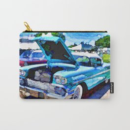 A line of classic antique cars 1 Carry-All Pouch