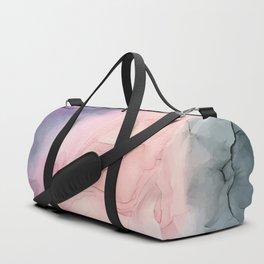 Dark and Pastel Ethereal- Original Fluid Art Painting Duffle Bag