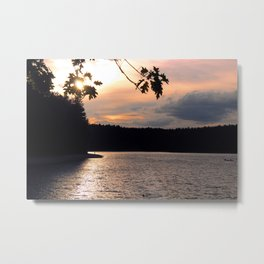 Sunset at Concord's Walden Pond 4 Metal Print