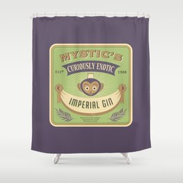Mystic's Curiously Exotic Imperial Gin Shower Curtain